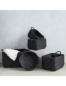 Woven Seagrass Baskets   Black by West Elm