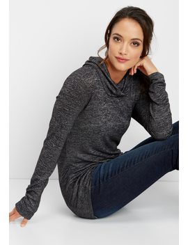 24/7 Double Pocket Cowl Neck Tee by Maurices