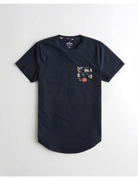 Must Have Curved Hem T Shirt by Hollister