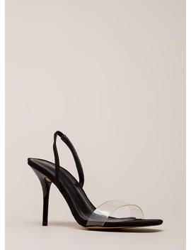 Clear And Present Slingback Heels by Go Jane