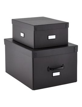Our Graphite Bigso Storage Boxes by Container Store