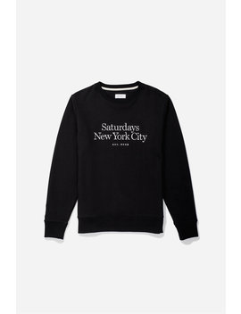 Bowery Miller Standard Embroidered Sweatshirt Black           Esquina Oxford Short Sleeve Shirt   True Red              Saturdays Exclude T Shirt   White              S Interlock T Shirt   True Red              Perry Boucle Longsleeve Shirt   Black by Saturdays Nyc
