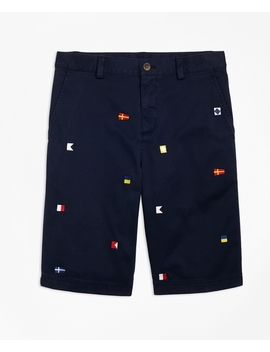 Boys Cotton Nautical Shorts by Brooks Brothers