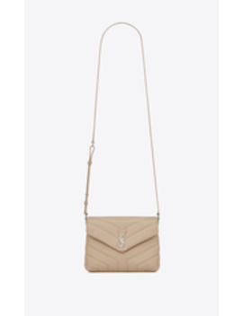 "bag-toy-loulou-a-tracolla-rosa-cipria-in-pelle-matelassÉ-a-""y"" by saint-laurent"