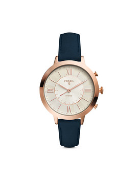Refurbished Hybrid Smartwatch   Jacqueline Navy Leather by Fossil