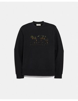 Rexy And Carriage Camo Sweatshirt by Coach