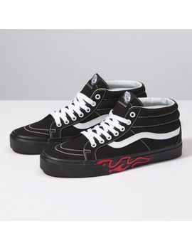 Flame Cut Out Sk8 Mid Reissue by Vans