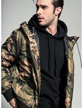 Jake Camo Print Puffer Jacket by Guess