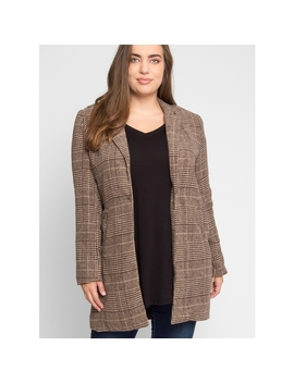 Plus Size Ultra Luxe Plaid Coat by Wet Seal