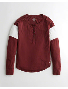 Colorblock Henley T Shirt by Hollister