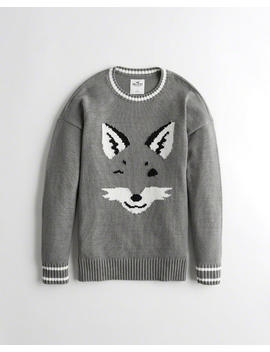 Graphic Crewneck Sweater by Hollister