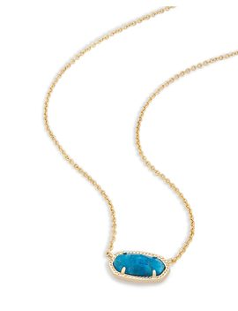 Elisa Pendant Necklace In Aqua Apatite by Kendra Scott