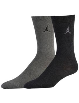 Jordan Heathered Crew 2 Pack Socks by Jordan