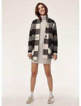 Veste Neelam   Wool Blend, Plaid Cocoon Jacket by Wilfred Free