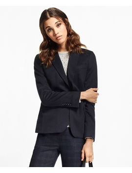 Petite Two Button Cashmere Blazer by Brooks Brothers