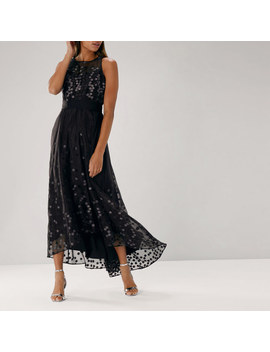 Alodie Spot Embroidered Dress by Coast