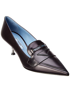 Prada Leather Loafer Pump by Prada
