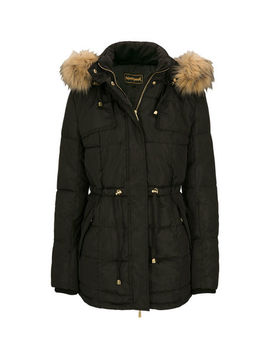 Quilted Faux Fur Trim Jacket by Ricki's