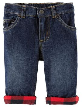 Buffalo Check Denim Jeans by Carter's