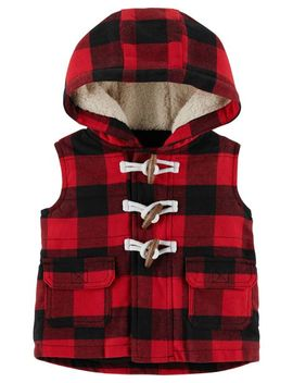 Buffalo Check Twill Flannel Vest by Carter's