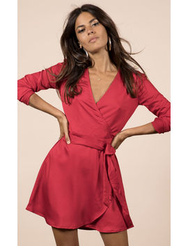 Marley Wrap Dress In Red by Dancing Leopard