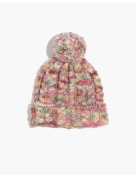 Madewell X Manos Del Uruguay Space Dyed Cableknit Pom Pom Beanie by Madewell