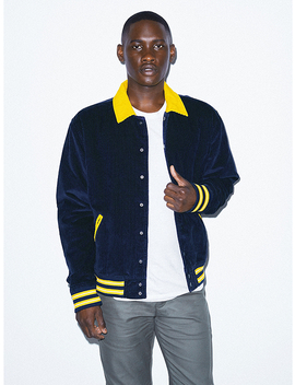 Corduroy Letterman Jacket by American Apparel