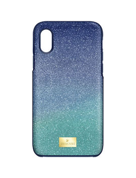 High Ombre Smartphone Case With Bumper, I Phone® X/Xs, Green by Swarovski