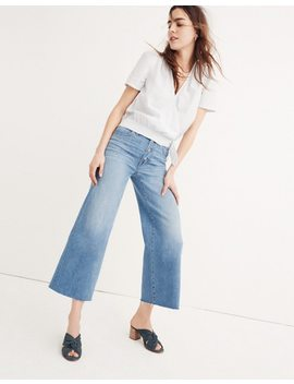 Tall Wide Leg Crop Jeans: Button Front Edition by Madewell
