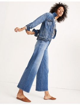 Tall Wide Leg Crop Jeans In Finney Wash by Madewell