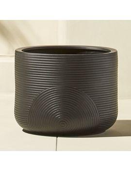 Zen Small Black Planter by Crate&Barrel