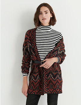 Long Ikat Cardigan by Lucky Brand