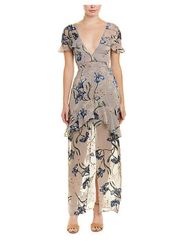 For Love & Lemons Cleo Silk Blend Maxi Dress by For Love And Lemons