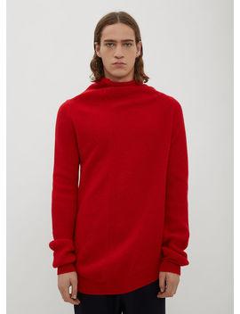 Twist Knit Sweater In Red by Jil Sander