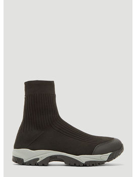 Security Sock Stretch Knit High Top Trainers In Black by Maison Margiela