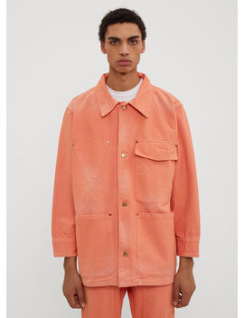 Worker Jacket In Orange by Vyner Articles