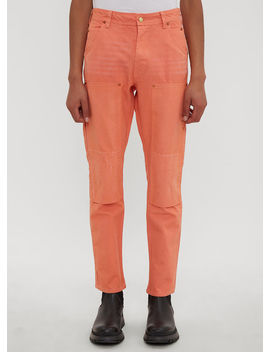 Worker Pants In Orange by Vyner Articles