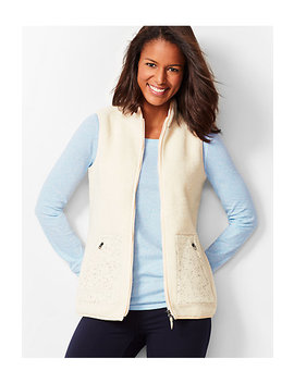 Soft Sherpa Vest by Talbots