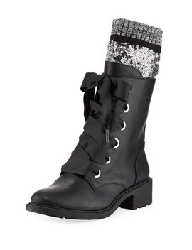 Dearborn Combat Booties With Sequined Sock by Circus By Sam Edelman