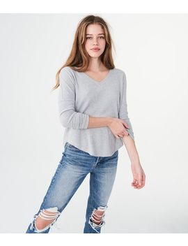 Long Sleeve Seriously Soft Waffle Knit Top by Aeropostale