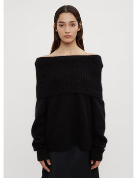 Cowl Neck Knit Sweater In Black by Acne Studios