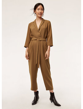Karl Jumpsuit   Tailored, Belted Jumpsuit by Babaton