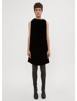 Toga Dress In Black by Rick Owens