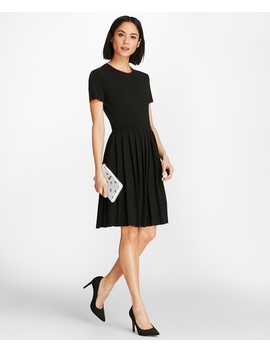 Pleated Sweater Dress by Brooks Brothers