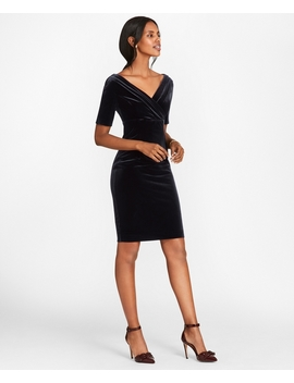 Velvet Sheath Dress by Brooks Brothers