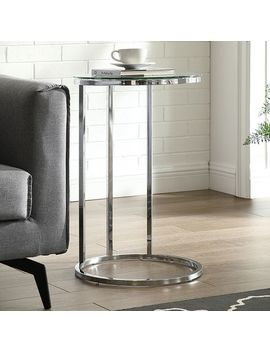Round Glass & Chrome C Table by Pier1 Imports