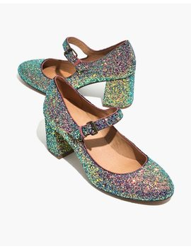 The Zelda Mary Jane Pump In Glitter by Madewell