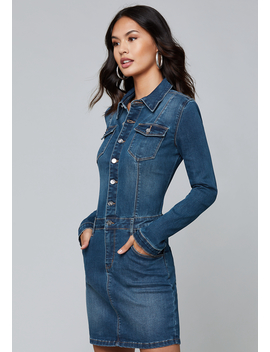 Alexa Denim Dress by Bebe