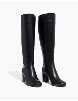 The Scarlett Tall Boot In Leather With Extended Calf by Madewell