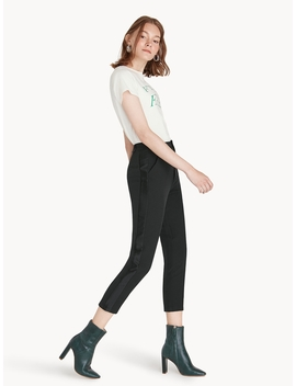 Cropped High Rise Side Panel Pants by Pomelo